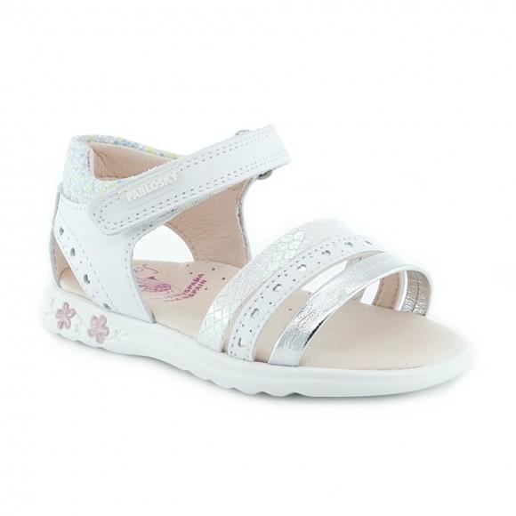 Sandalias de niña Pablosky 097400 Blanco
