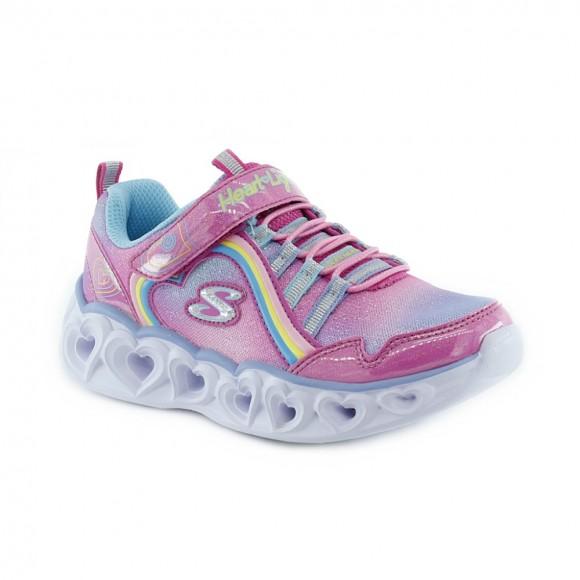 Zapatillas con luces Skechers Heart Lights Rosa .