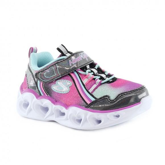 Zapatillas con luces Skechers Heart Fucsia.