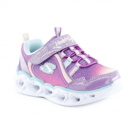 Zapatillas con luces Skechers Heart Malva