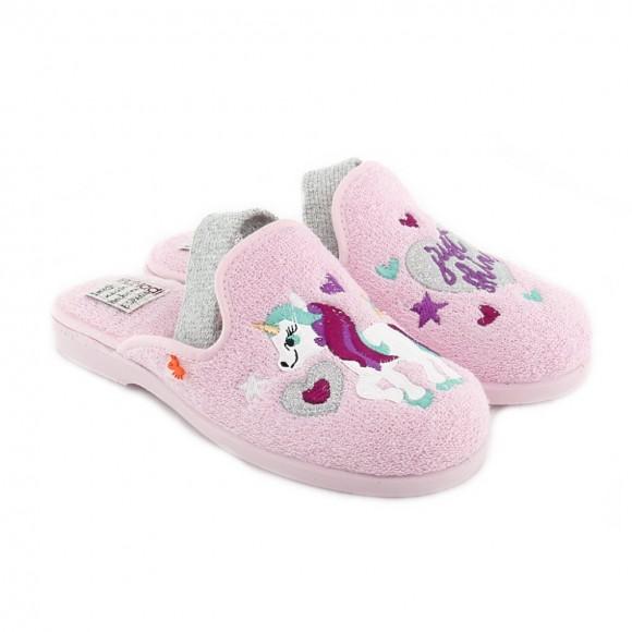 Zapatillas de casa niña 4104-052 Rosa