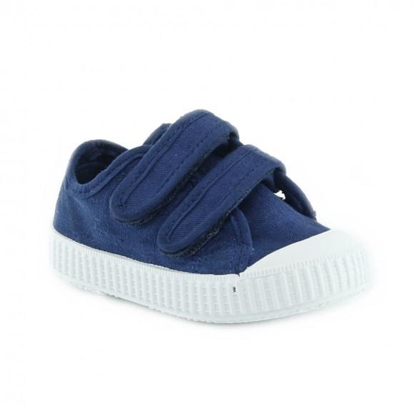 Zapatillas de lona Zapy velcros Azul
