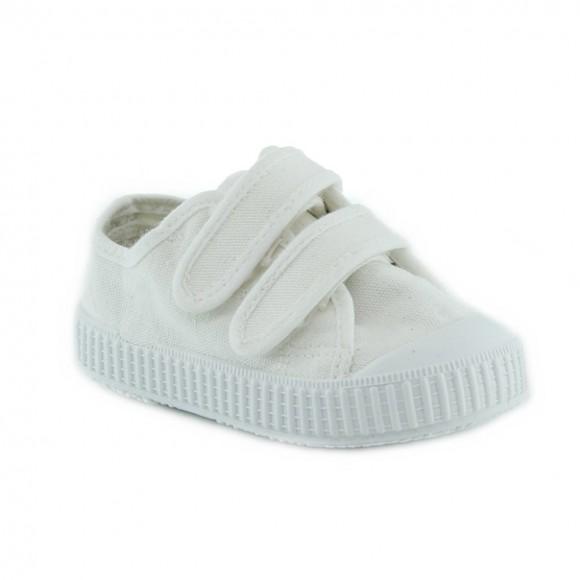 Zapatillas de lona Zapy velcros Blanco.