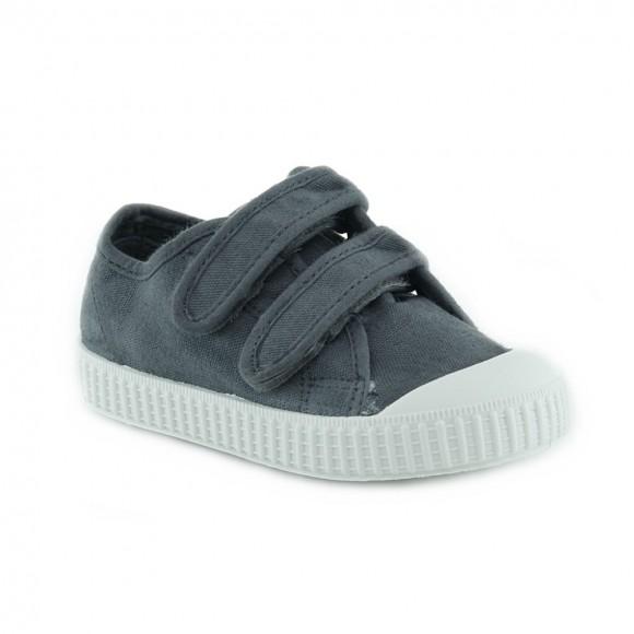 Zapatillas de lona Zapy velcros Gris