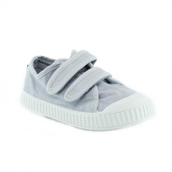 Zapatillas de lona Zapy velcros Gris claro