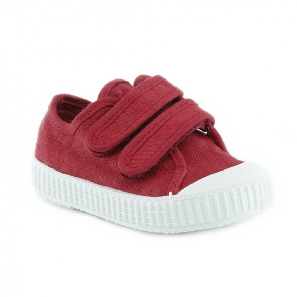 Zapatillas de lona Zapy velcros Rojo