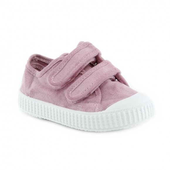 Zapatillas de lona Zapy velcros Rosa