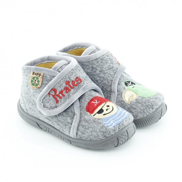 Zapatillas de casa Zapy Pirata Gris