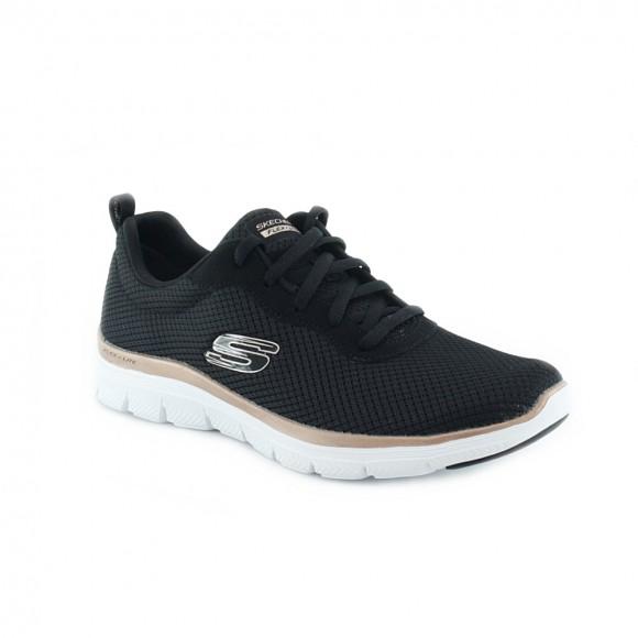 Zapatillas Skechers Flex Appeal Negro-Oro.