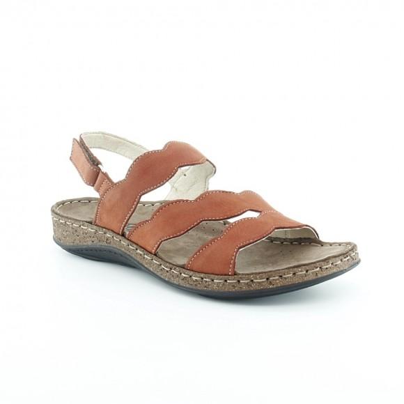 Sandalias de mujer Walk 3861 43850 Granate.