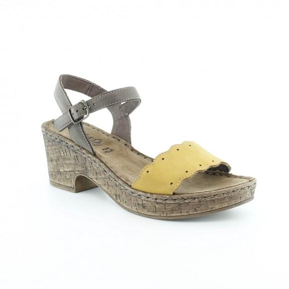 Sandalias de mujer Walk 6546 42361 Amarillo.