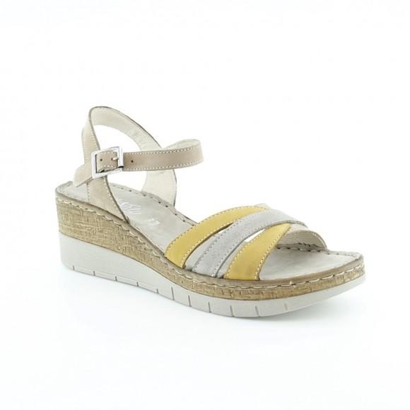 Sandalias de mujer Walk 6548 43890 Amarillo-Plata