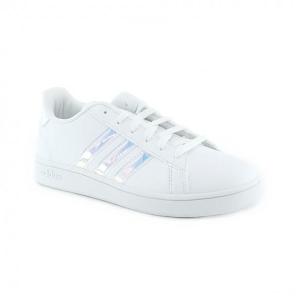 Zapatillas Adidas Grand Court Blanco-Iriscente C.