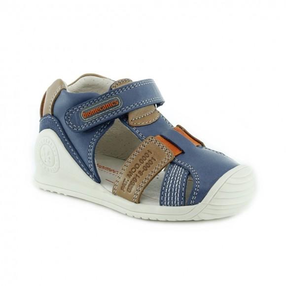 Sandalias de niño Biomecanics 212134-A Jeans-marrón