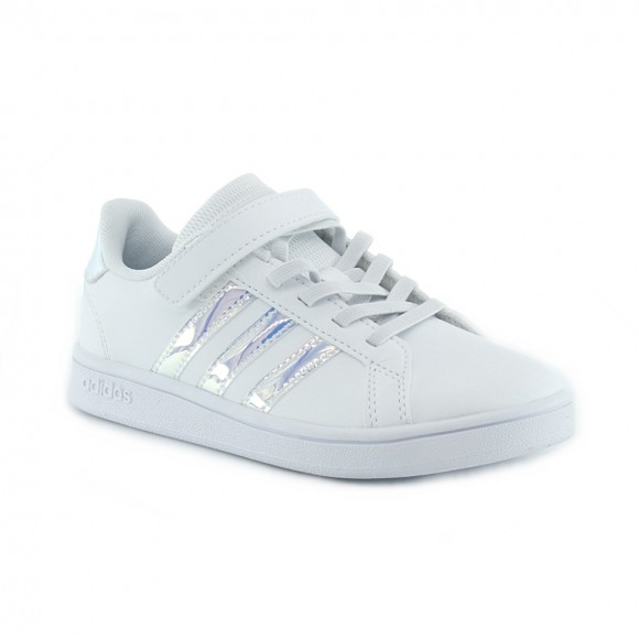 Zapatillas Adidas Grand Court Blanco-Iriscente J.