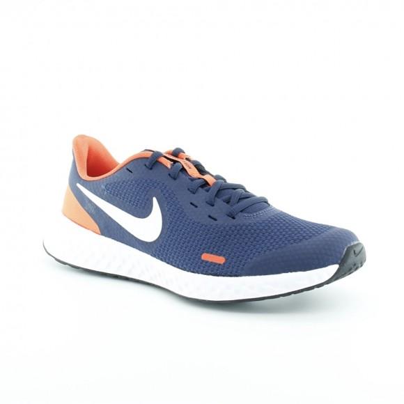 Zapatillas Nike Revolution 5 Azul-Naranja C
