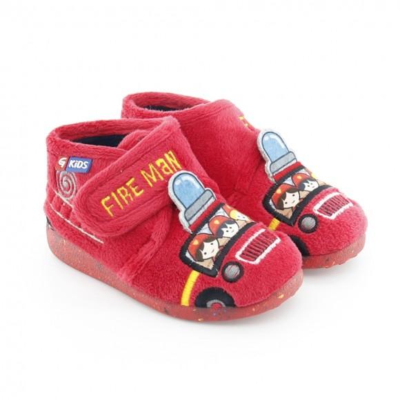 Zapatillas de casa Garzón Bomberos Rojo