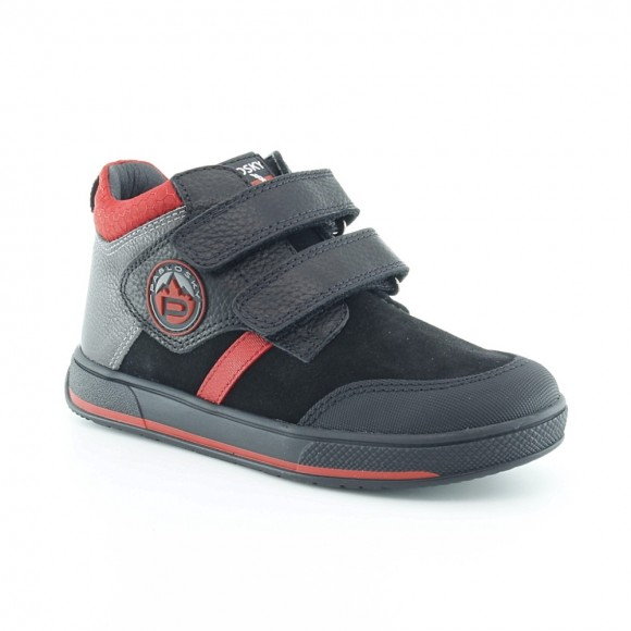Botines de niño Pablosky 503511 Negro-Rojo