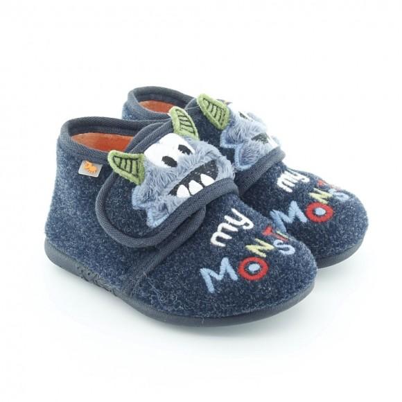 Zapatillas de casa Vulladi Monster Azul