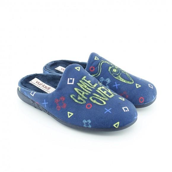 Zapatillas de casa Vulladi Gamer Azul