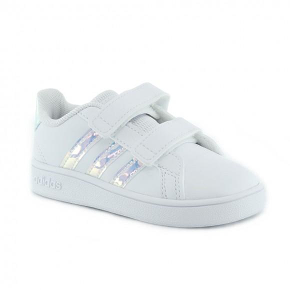 Zapatillas Adidas Grand Court Blanco-Iriscente 2V.