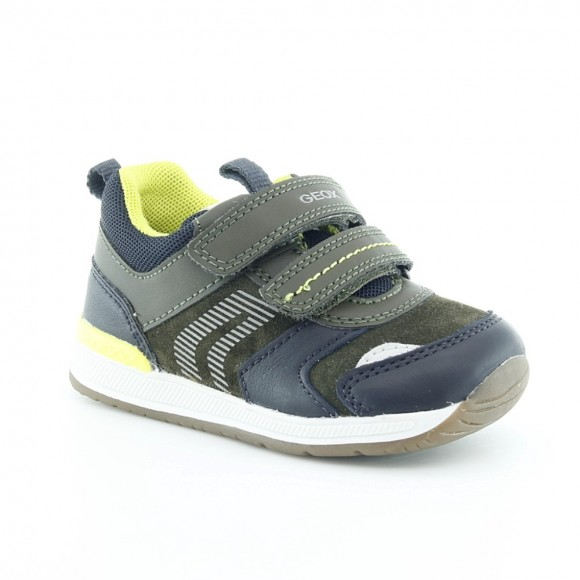 Zapatos Geox Rishon Verde-Azul