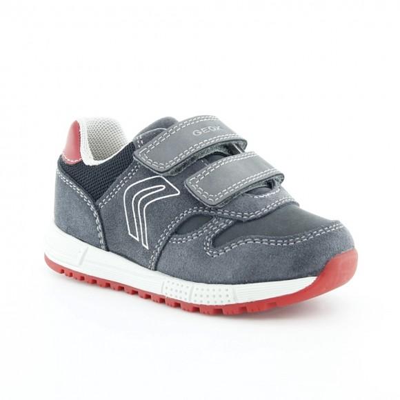 Zapatos Geox Alben Gris-Rojo
