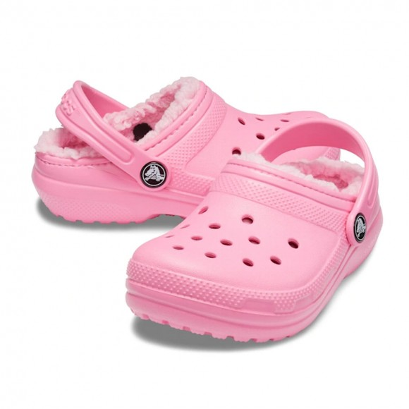 Zuecos forrados Crocs Classic Lined Rosa